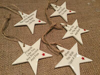 Ceramic Hanging Star Decorations Sign Love you to the Moon Christmas Tree Friend