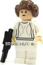 LEGO STAR WARS WHITE DRESS PRINCESS LEIA BIG PUPILS / EYES FIGURE - 10188 - NEW