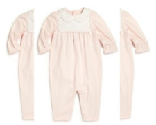 Ralph Lauren Girls Baby Novelty Pima Cotton Coverall, Size 6M, MSRP $55