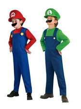 Super Mario And Luigi Brothers Children Kid Costume Fancy Dress Party Halloween