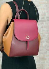 kate spade new york Adel Flap Leather Backpack Shoulder Bag, Medium - Black