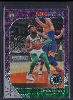 2019-20 HOOPS PREMIUM STOCK PURPLE DISCO PRIZM JAYLEN BROWN #7