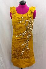 Anthropologie Floreat Gilded Catkins Embroidered Jacquard Brocade Dress Sz 0 NWT
