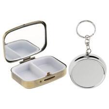 2x Travel Portable Vitamin Organizer Medicine Tablet Box Pill Storage Case