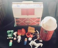 Vintage Fisher Price Play Family Farm Barn Silo Little People #915