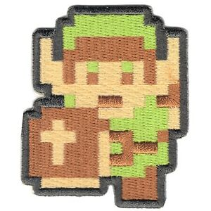 Nintendo The Legend of Zelda Link 8Bit Embroidered Iron on Patch