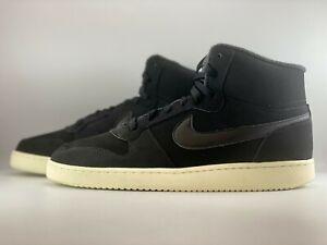 Nike Ebernon Mid SE Black Shoes Womens Size 11 (Men 9.5) Black/Sail AV2478-001