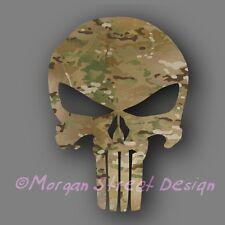 """Punisher Multicam Military Die Cut Decal Sticker Car Truck 5"""""""