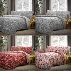 Dreams & Drapes Lodge Nordic 100% Brushed Cotton Reversible Duvet Cover Set