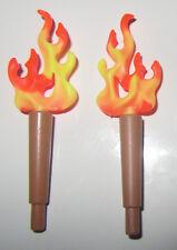 PLAYMOBIL  lot   torche grande flamme  moyen age  NEUF