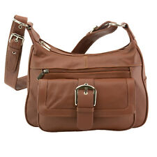 Women's Leather Organizer Purse Multi Pocket Handbag Shoulder Bag Satchel Tote
