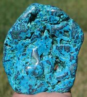 106mm 4.9OZ Natural Blue Chrysocolla with Malachite Crystal Polished Gem