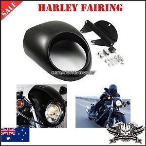 MOTORCYCLE HEADLIGHT FAIRING Harley Sportster Cafe Drag Dyna FX XL Glide custom