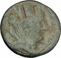 TARSUS in CILICIA 2-1stCenBC Tyche Sandan Lion Pyre Ancient Greek Coin i45704