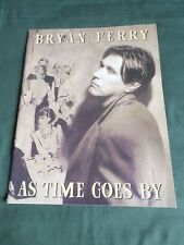 BRYAN FERRY - AS TIME GOES BY - ORIGINAL  TOUR PROGRAMME 1999