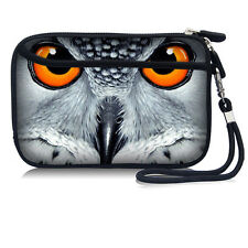 "Owl Sleeve Bag Phone Case Camera Pouch for 2.5"" Portable HDD Hard Disk Drive"
