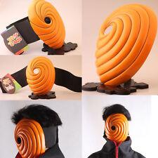 NARUTO Uchiha zone Mask tobi Obito Naruto Akatsuki Ninja Madara Cosplay Orange 1