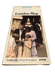 1960s 1970s Vintage Brochure The Historic Side  Britain The London Map Souvenir