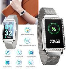 Women Girls Luxury Smart Watch Heart Rate Monitor Bracelet Bluetooth SMS Sync