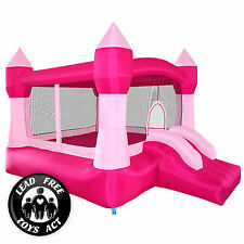 Mighty Bounce House - Inflatable Princess Jump Castle with Blower