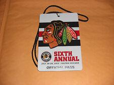 Chicago Blackhawks Convention @Hilton Glossy Pass #02941 HTF Limited Ed.  2013