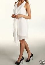 Miha Size 0 Opia White Sleeveless Ruffle Dress Msrp $320.00