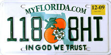 Florida IN GOD WE TRUST License Plate