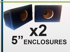 "SLIM PAIR of  5"" BOX ENCLOSURES FOR 5"" CAR AUDIO SPEAKERS (x2 BOXES)"