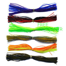 6pc Silicone Skirts Spinner Bait ass Lure Blade Fishing Jig Head Lure Craft New