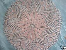 Handgestrickt ! rundes Deckchen rund  41 cm Mitteldecke aus Baumwolle Tischdecke