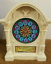 Lighted Inspirational Clock Gift Collection De Cadeaux New in Box
