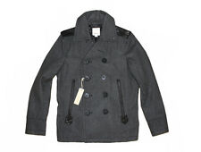Diesel Weckhard Grey Wool Blend Peacoat Size L 100 Authentic