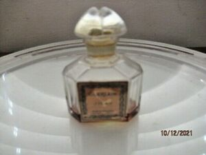 ATQ GUERLAIN QUADRILOBE STOPPER BACCARAT PERFUME PARFUM BOTTLE 1/10 FULL SIGNED