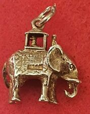 375 9ct Gold Indian State Elephant Charm/Pendant 5.3 grams
