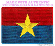 VIET CONG FLAG PATCH EMBROIDERED NORTH VIETNAM WAR w/ VELCRO® Brand Fastener