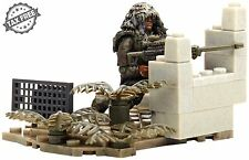Mega Bloks Call of Duty Figure Ghillie Suit Sniper Rifle Set New Action Building