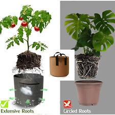 Self Standing Growing Bag 2-10 Gallon Brown Plant Growing Pot Heavy Duty Bag