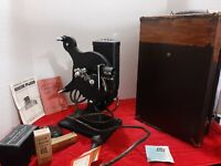 Keystone Kinescope Film Projector  -16 MM -Model D62 in box with accessori
