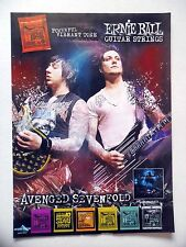 PUBLICITE-ADVERTISING :  ERNIE BALL COATED SLINKY Strings 2011Avenged Sevenfold