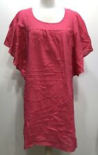 Old Navy Hot Pink Kaftan Sleeve A-line Women Dress Size Large