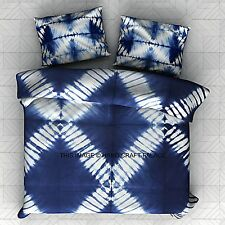 Tie Dye Shibori Duvet Doona Cover Hippie Indian Blanket Quilt cover with Pillows