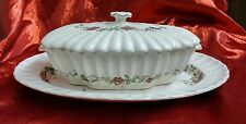 COPELAND SPODE CHELSEA WICKER FLORAL TUREEN LIDDED SERVING UNDERPLATE SP 2-7911
