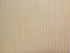 Yellow DOUBLE STRIPE White Fabric - 1/2 yard
