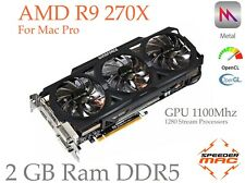  AMD R9 270X  2GB Ram ( GPU @1100 Mhz)  tout Mac Pro  (As 7950) Metal 4K Mojave