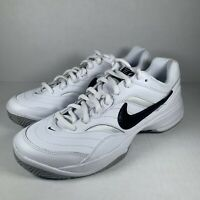 NEW Nike Court Lite White Black Men's Tennis Shoes Sneakers 845021-100 Size 10
