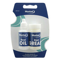 Mustad Reel Oil Grease Set Spinning Baitcasting Fishing Reels Oiler Greaser OK