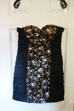 Gorgeous Bandeau Dress in Crinkle Effect fabric, size L (12/14), 100% Cotton