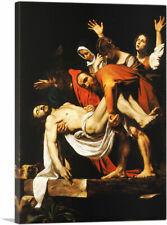 "Entombment of Christ 1603 Canvas Art Print by Caravaggio 26""x18"" (.75"" Deep)"