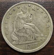 1867-S Seated Liberty Half Dollar 50C Great Looking Pickup!