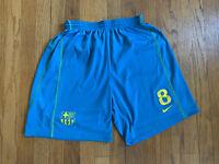 Barcelona FC Nike Soccer Dri-Fit Shorts 2015 Andres Iniesta Size Small EUC